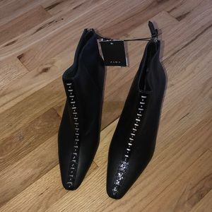 Black Leather Ankle